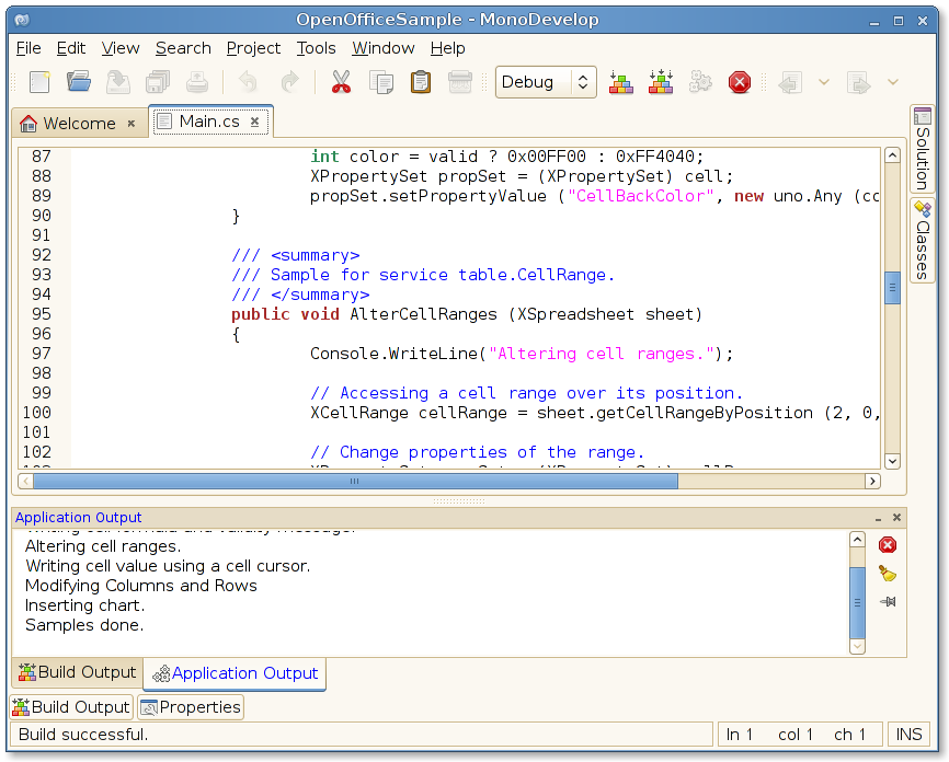 OpenOffice-based applications with Mono and MonoDevelop - Miguel de