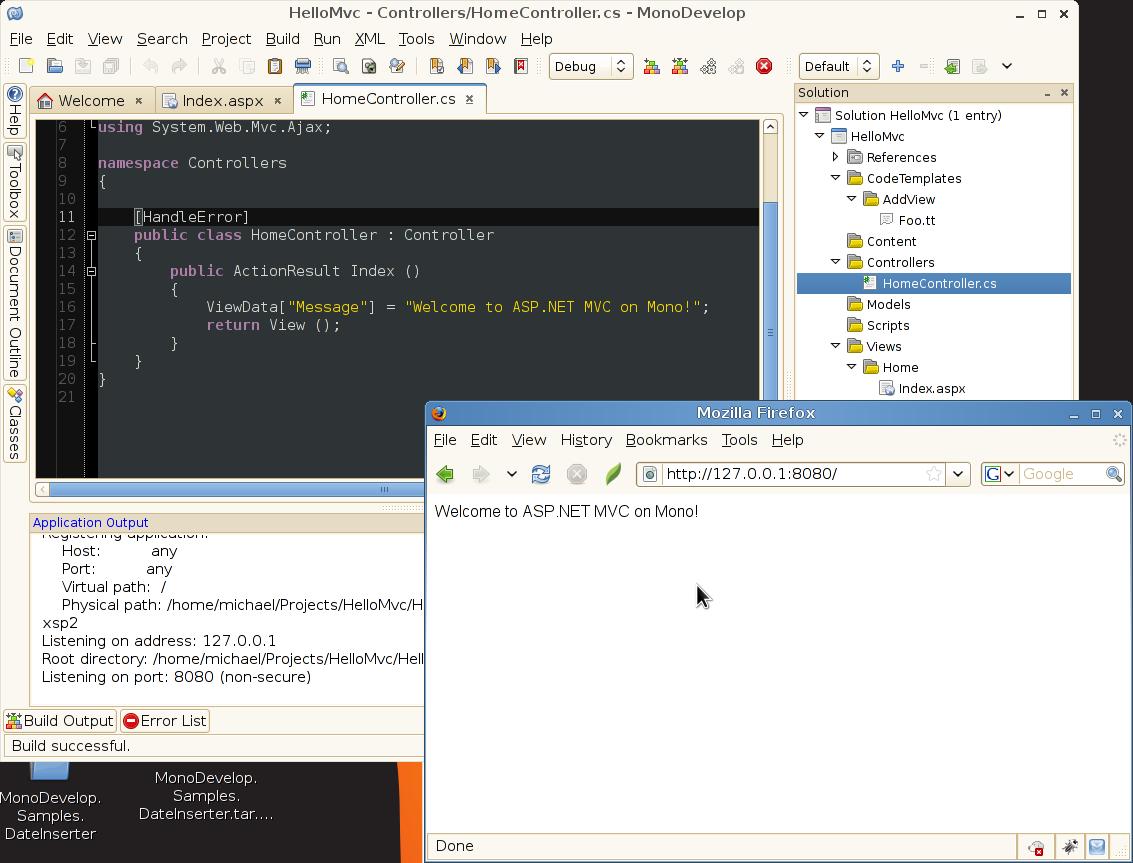 MonoDevelop Support for ASP NET MVC - Miguel de Icaza