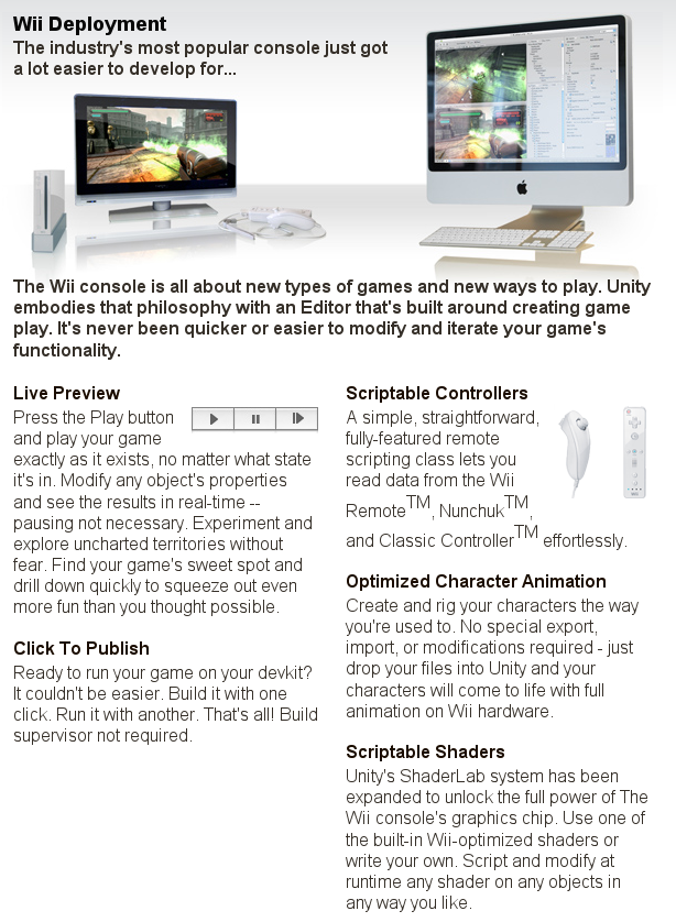 Unity3D now available for the Wii - Miguel de Icaza